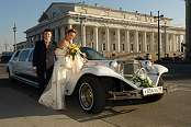 Excalibur Wedding White Limousine 1