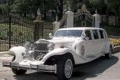 Excalibur Wedding White Limousine 2